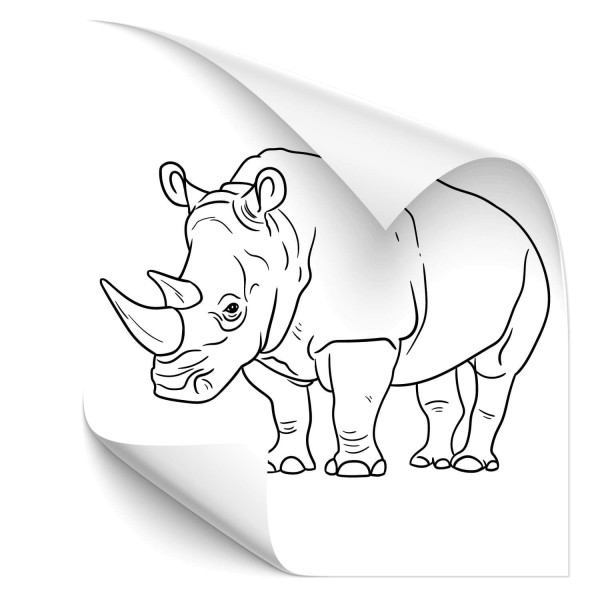Nashorn Autotattoo - Tiere