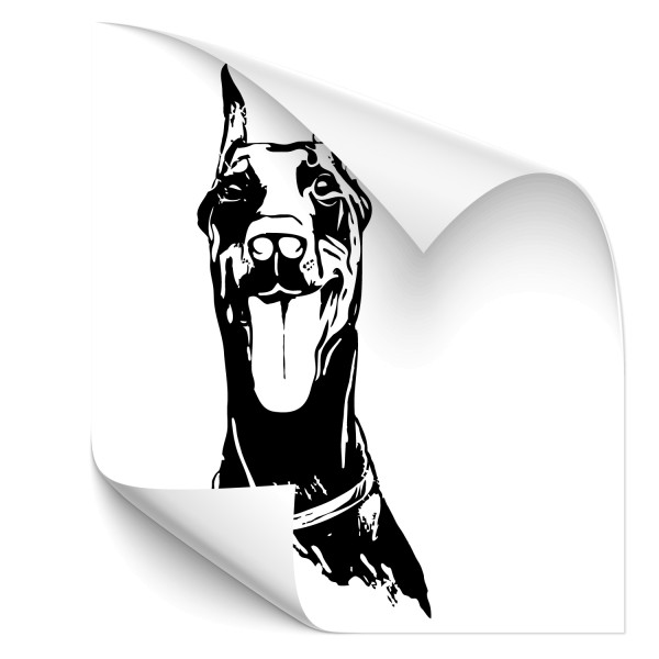 Dobermann Auto Hundeaufkleber - Hunde