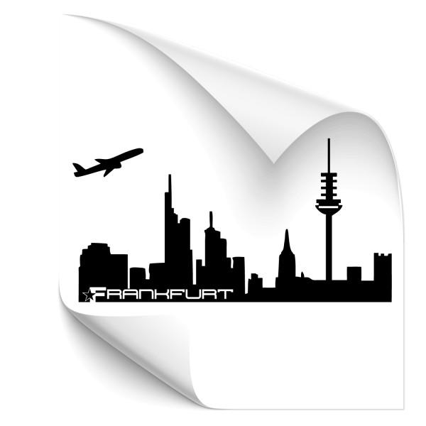 Frankfurt Silhouetten Auto Folienaufkleber - Skyline