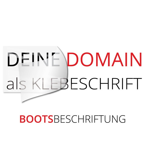 Domain Bootaufkleber - Kategorie Shop