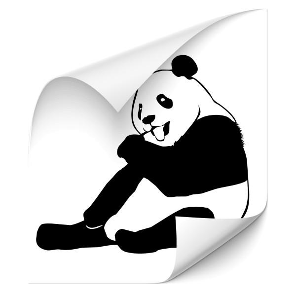 Pandabär Auto Folienaufkleber - wildnis