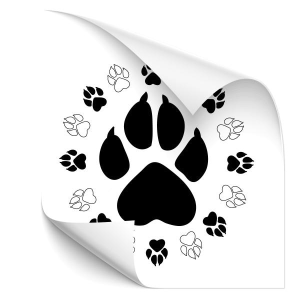 Tierpfoten Kreis Car Tattoo - Pfoten