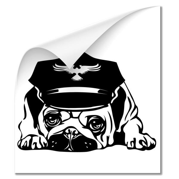 Mops Auto Heckscheibenaufkleber - Hunde