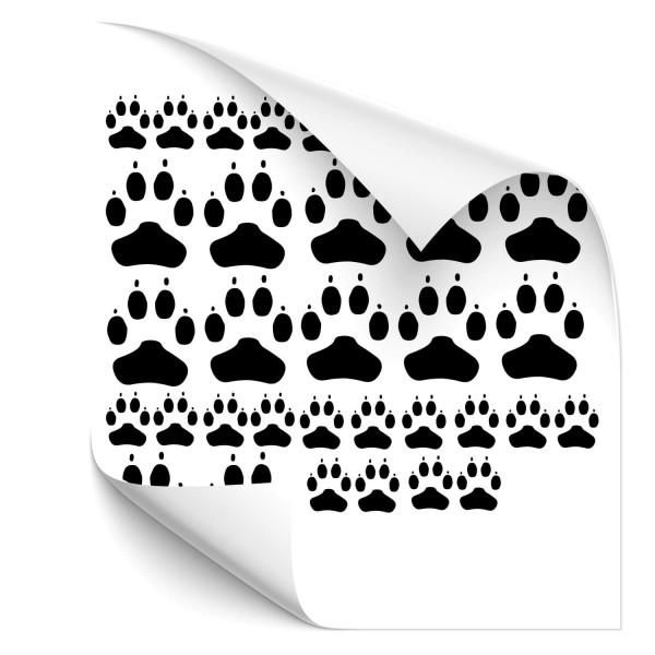 Hundepfoten-Set Autoaufkleber - Kategorie Shop