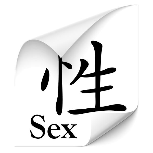 chinesische Schriftzeichen - Sex Outdoor Car Sticker - Chinesische Zeichen