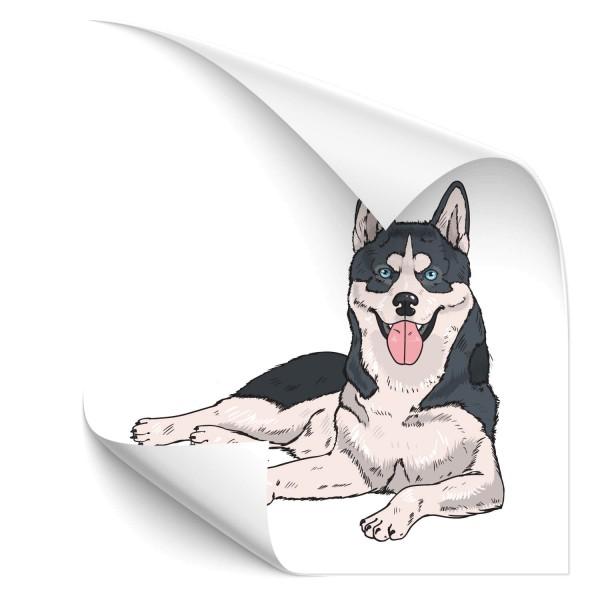 Husky Auto Hundeaufkleber - Kategorie Shop
