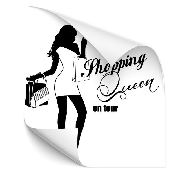 Shopping Queen on tour Heckscheiben Aufkleber - Kategorie Shop