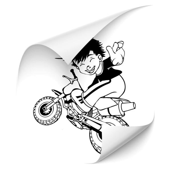 Junge auf Motorrad Autosticker - wandtattoo