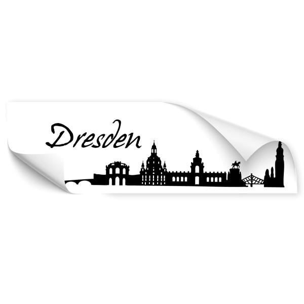 Dresden Haupstadt Skyline Autoaufkleber - Skyline