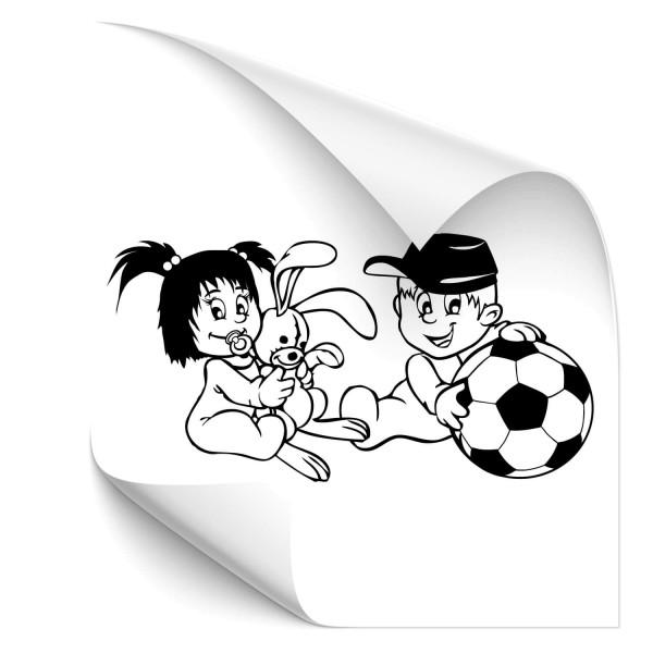 Schwester & Bruder Kfz Sticker - wandtattoo