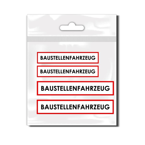 Baustellenfahrzeug Kfz Heckaufkleber - Kategorie Shop