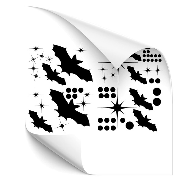 Fledermaus-Sterne-Set Autotattoo Sticker - Kategorie Shop