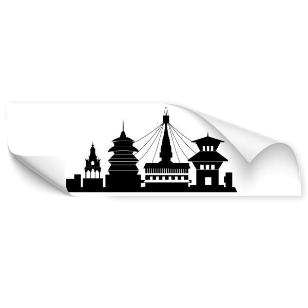 Kathmandu Skyline Kfz Aufkleber - wandtattoo