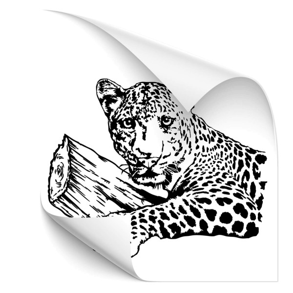 Leopard auf Ast Autotattoo - katzen & Co