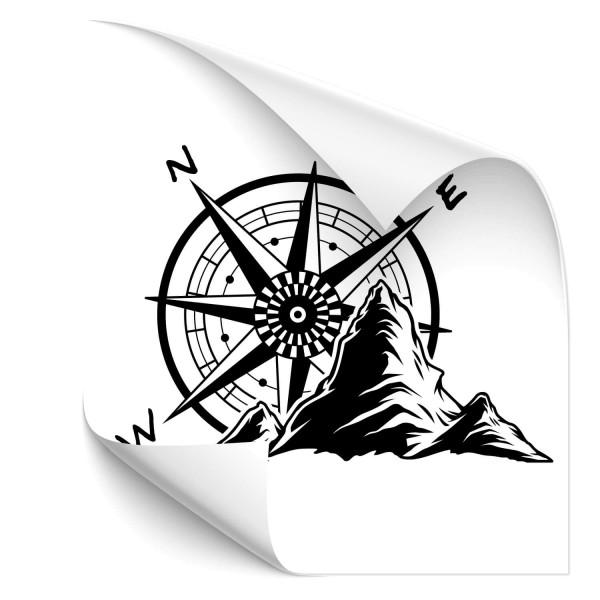 Hiking Mountain Car Sticker - wandtattoo