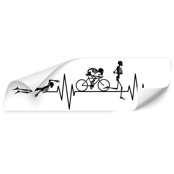 Triathlon Skelett Autosticker - Kategorie Shop