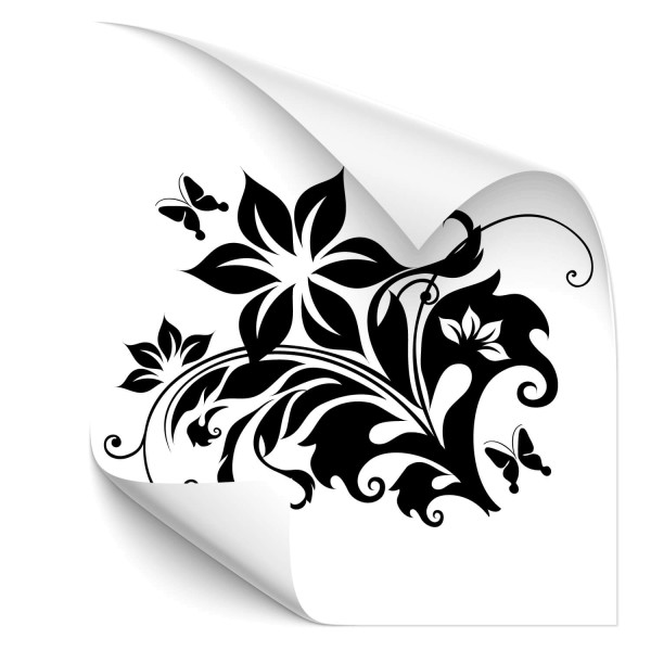 Hibiskus Blumenranken Fahrzeug Sticker - Kategorie Shop