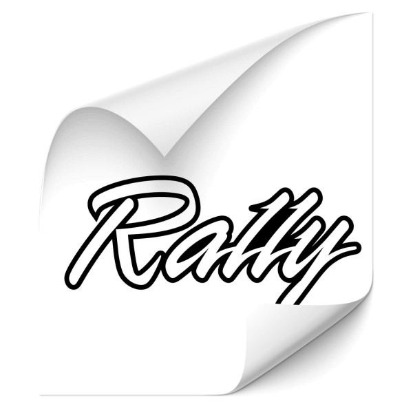 Rally Schriftzug Motorcycle Sticker - Kategorie Shop