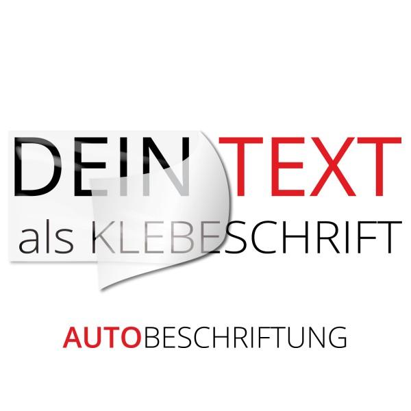 Wunschtext Autobeschriftung - Kategorie Shop