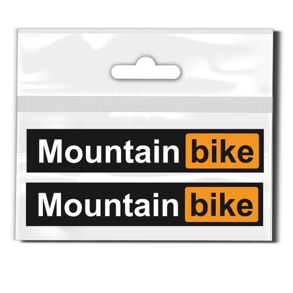Mountainbike Schriftzug Set Rahmen Aufkleber - Beschriftung