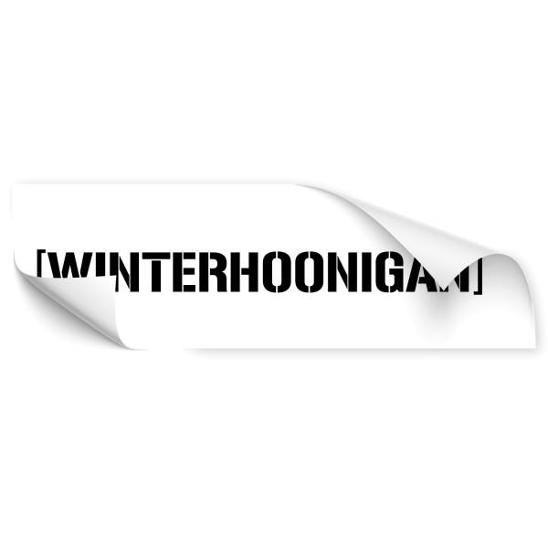 Winterhoonigan Heckscheiben Tattoo - Kategorie Shop