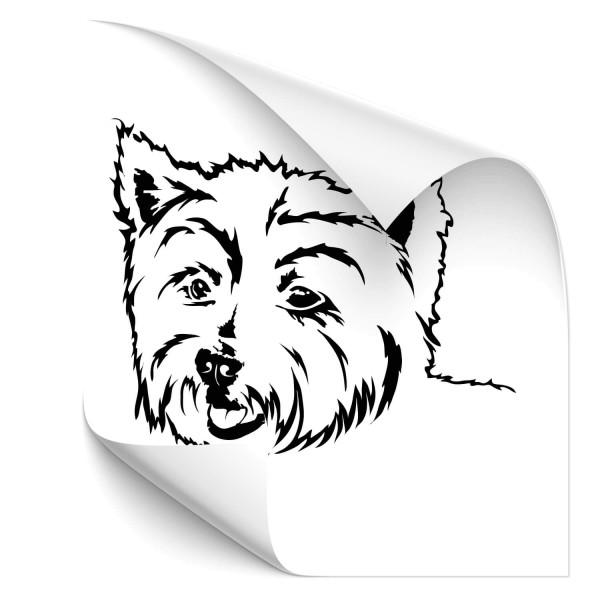 West Highland Terrier Heck Scheiben Aufkleber - Hunde