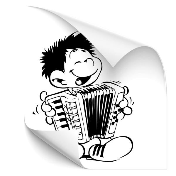 Junge mit Akkordeon Kfz Tuning Sticker - wandtattoo