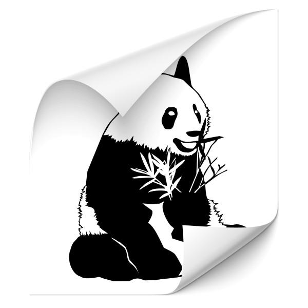 Pandabär mit Bambus Autotattoo