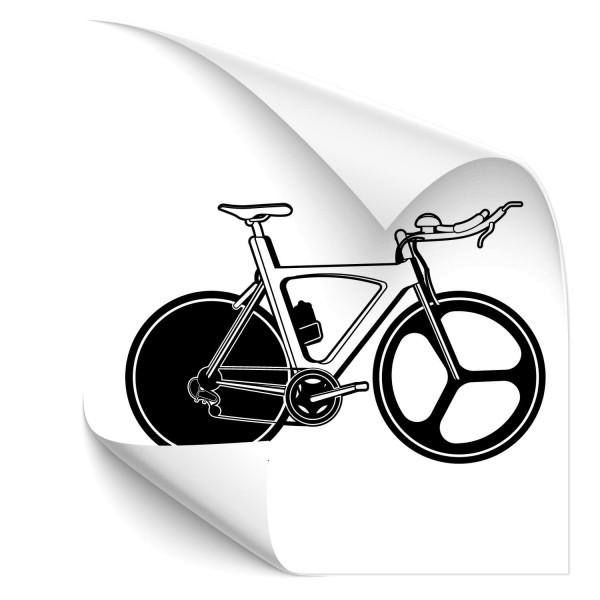Triathlon Zeitfahrrad Autotattoo - wandtattoo