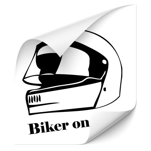 Biker on Tour Auto Heck Aufkleber - Kategorie Shop