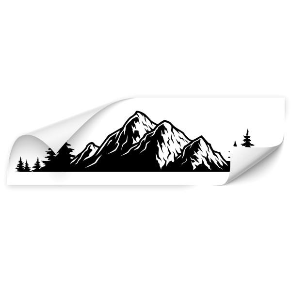 Berg Silhouetten Outdoor Car Tattoo - natur