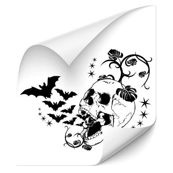 Totenkopf mit Fledermäusen Car Tuning Tattoo - Kategorie Shop