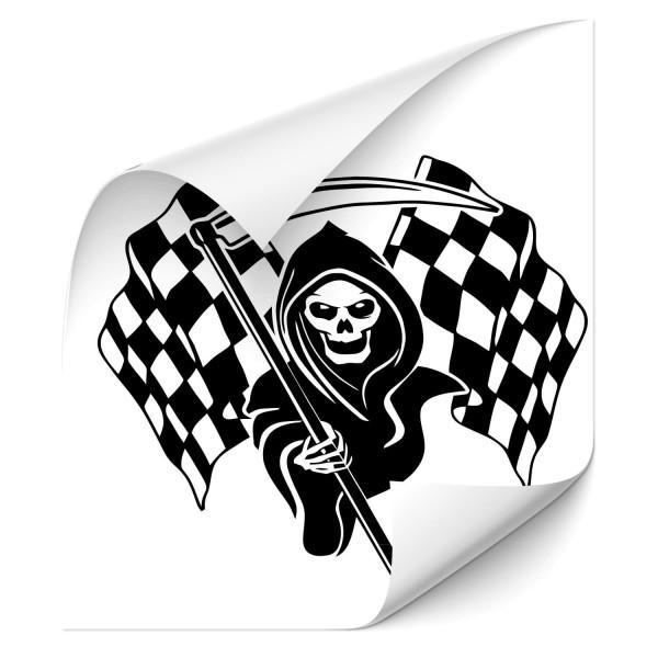 Sensenmann Racing Flags Fahrzeug Motorhauben Aufkleber - Kategorie Shop