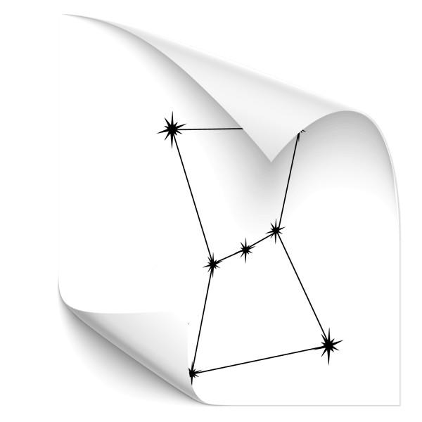 Orion - Sternbild Car Aufkleber - Sternzeichen