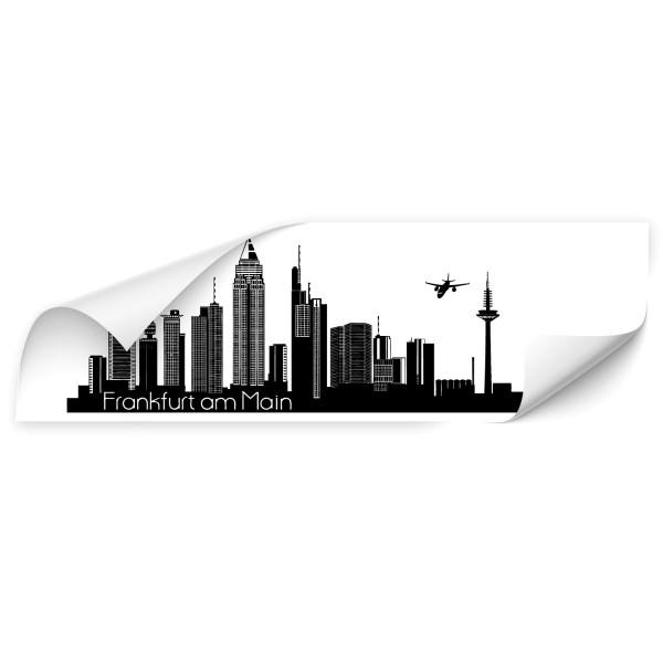 Frankfurt Welstadt Skyline Car Art Aufkleber - Skyline