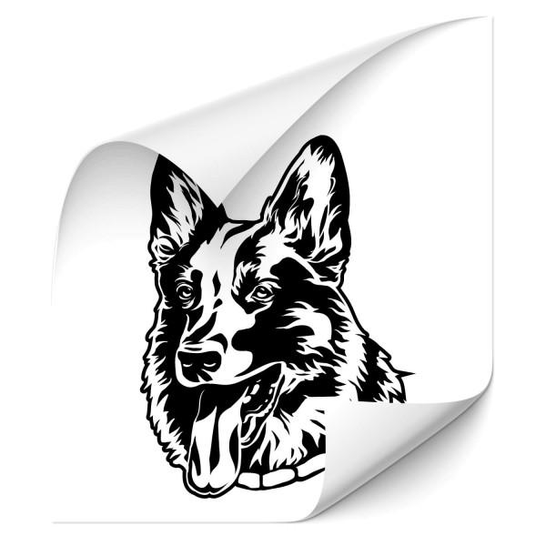 Deutscher Schäferhund Auto Folienaufkleber - Kategorie Shop