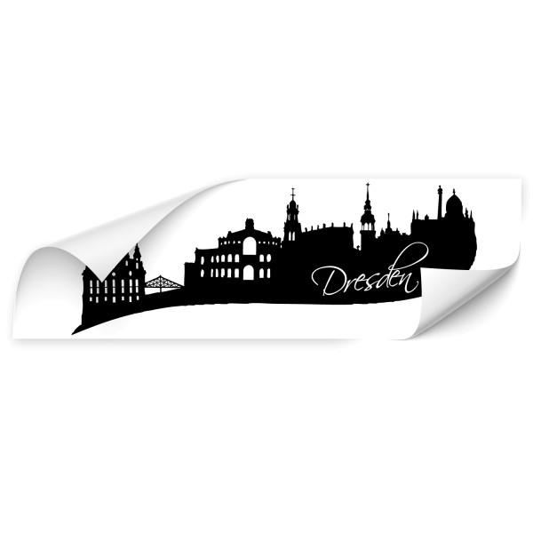 Dresden Stadt Auto Folienaufkleber - Skyline