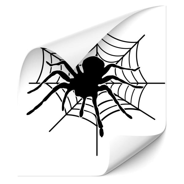 Spinne im Netz Motorhauben Aufkleber - Kategorie Shop