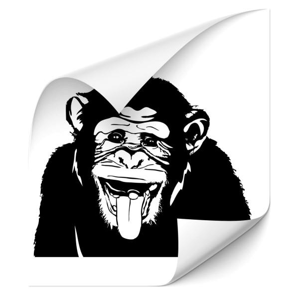 Schimpanse mit rausgestreckter Zunge Auto Tuning Sticker - Kategorie Shop