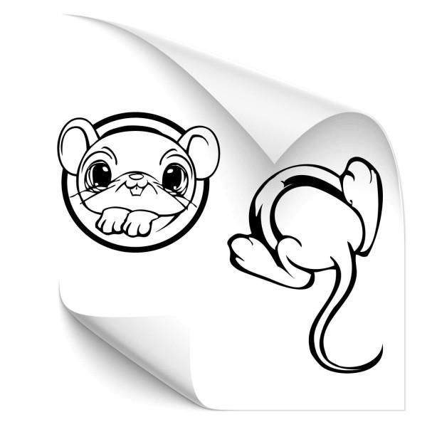 Maus im Loch Autosticker - wildnis
