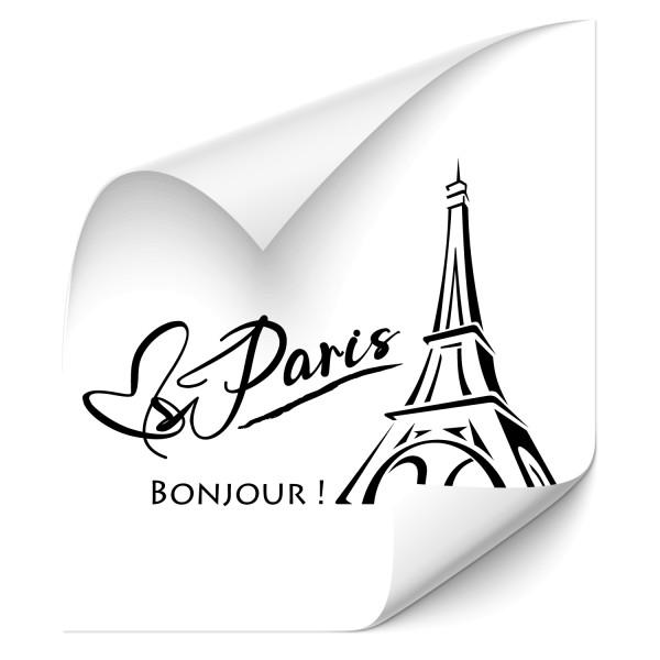 Bonjour Paris Outdoor Auto Aufkleber - Kategorie Shop