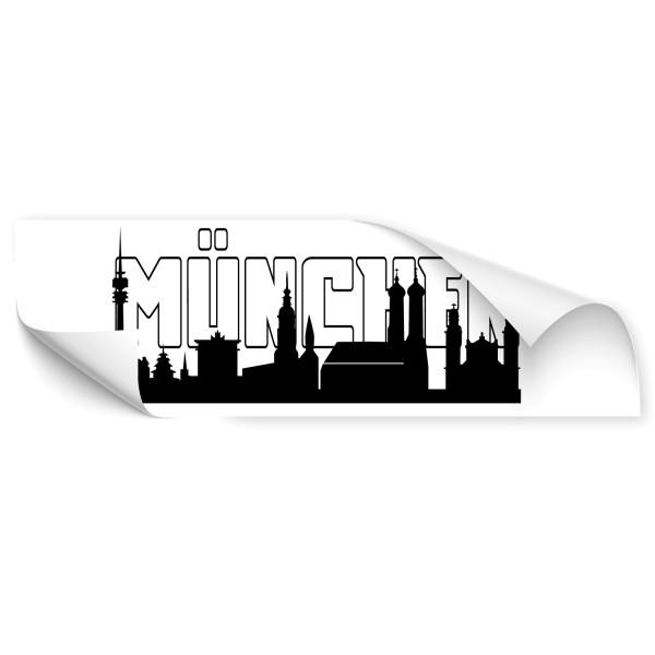 München Haupstadt Car Art Sticker - Skyline