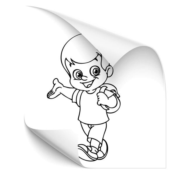 Grundschuljunge Kfz Vehikel Sticker - wandtattoo