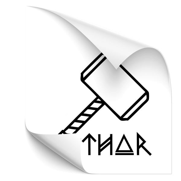 Thors Hammer Kfz Tuning Sticker - Kategorie Shop
