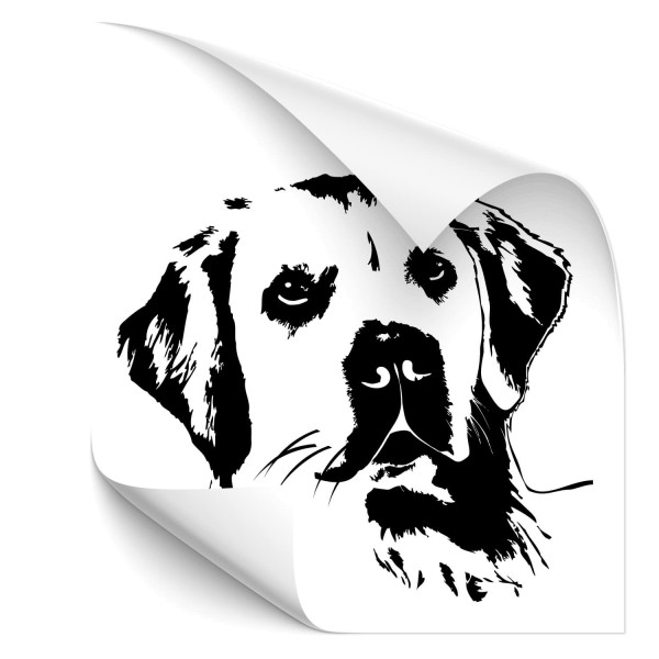 Golden Retriever Heck Scheiben Aufkleber - Hunde
