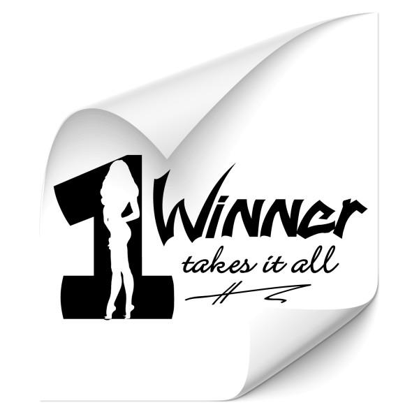 Winner takes it all ! Tuning Car Aufkleber - heckscheibe