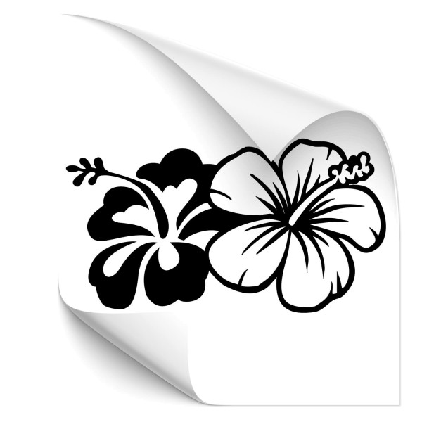 Hibiskusblüten Auto Sticker - Kategorie Shop