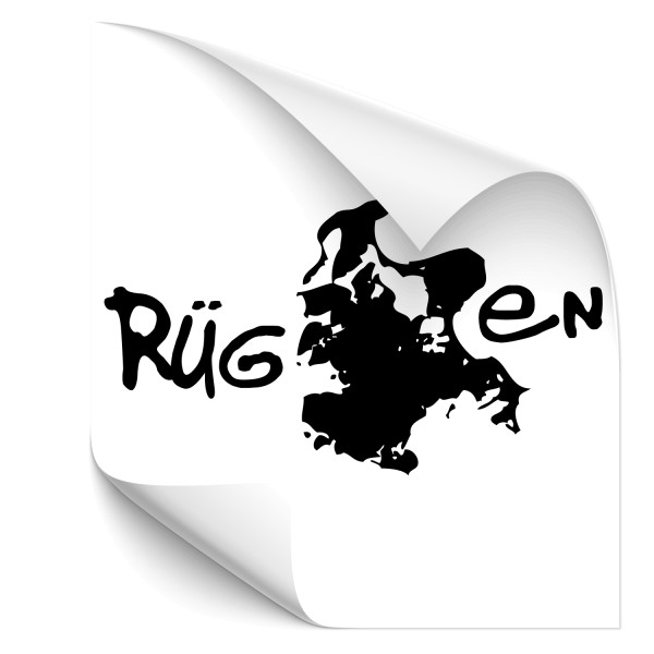 Rügen Silhouette Autoheck Aufkleber - wandtattoo