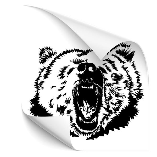 Grizzly Auto Folienaufkleber - wildnis