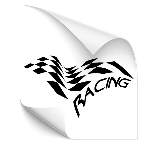 Racing Flag Fahrzeug Tattoo - Kategorie Shop